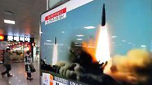 Drei Starts binnen kurzer Zeit: Nordkorea feuert Kurzstreckenraketen ab