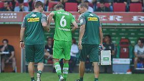 """""""Ist das hier die Bundesliga?"""" - so etwas Ähnliches dürfte sich Christoph Kramer nach der Begegnung mit Daniel Baiers Ellenbogen gefragt haben."""