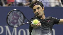 """""""Deshalb komme ich gerne nach New York, wegen dieser ganzen Emotionen"""": Roger Federer."""