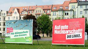 Wahlkampf auf der Straße: Kleine Parteien ringen um Platz drei