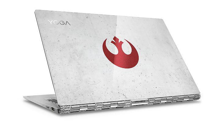 """Das Yoga 920 gibt's auch in zwei Star- Wars-Special-Editions - hier die """"Rebel Alliance""""-Variante."""