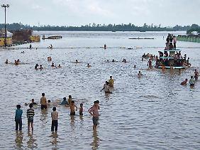 Hochwasser in Indien. Extremereignisse nehmen zu.