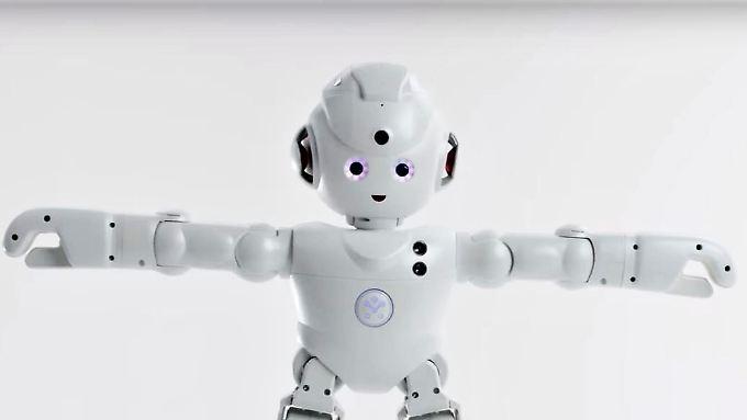 Der Roboter Lynx von Ubtech nimmt Sprachbefehle entgegen.
