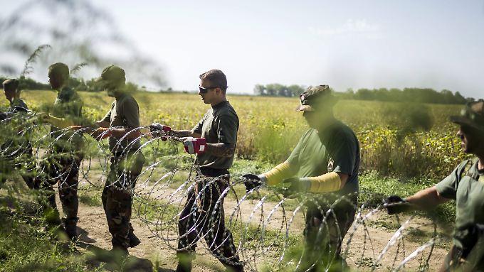 Ungarn setzte in der Flüchtlingskrise auf Abschottung (Archivbild vom September 2015).