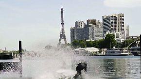 Der Magier unter den Wakeboardern: Österreicher brettert halsbrecherisch über die Seine