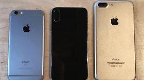Hier sieht man, dass das iPhone X kaum größer als ein iPhone 7 ist.