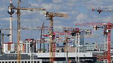 Rege Bautätigkeit in Berlin.