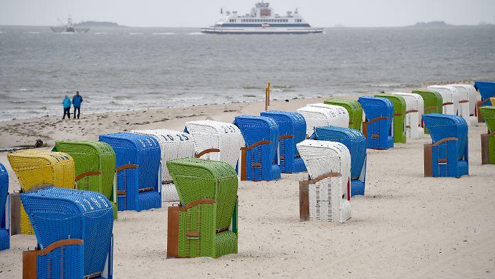 Ein Strand an der Nordsee.