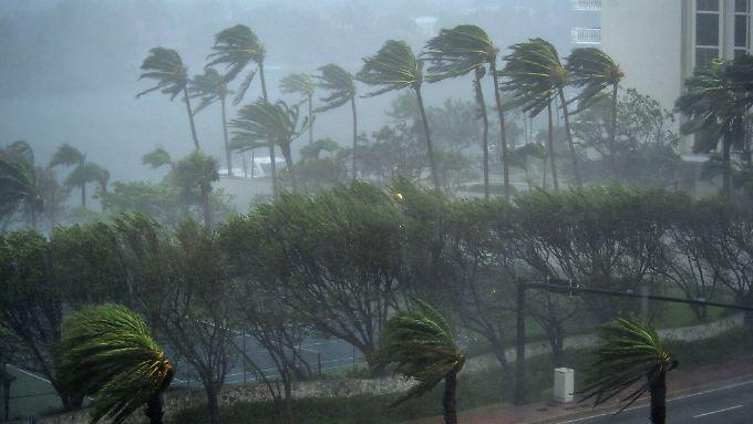Der Hurrikan wütete schwer und zerstörte viele Gebiete.