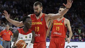 Deutschlands Aus bei Basketball-EM: Schröders Sturmlauf reicht gegen Spanien nicht