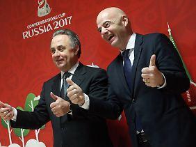 Witali Mutko und Gianni Infantino - diese Verbindung sorgt für Kritik.