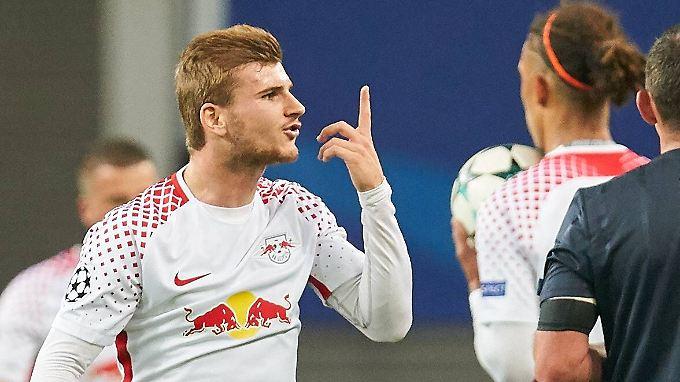 So nervös wirkte er dann gar nicht: Timo Werner.