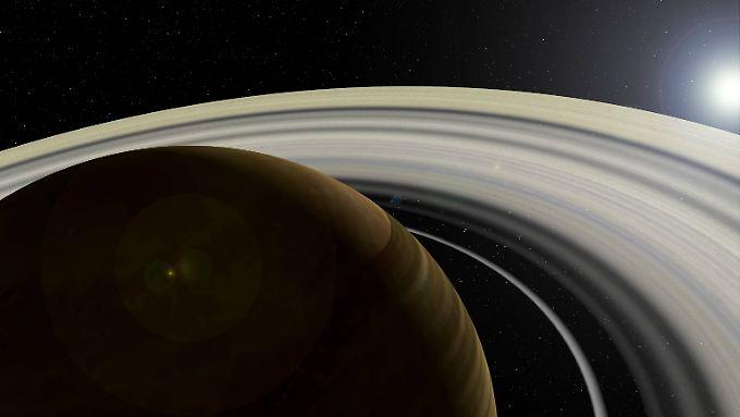 Der beringte Exoplanet von Tabbys Stern könnte nach neuen Erkenntnissen die Größe von Neptun haben.