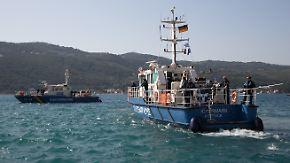 """""""Auf Action können wir verzichten"""": Bundespolizisten sichern griechische Seegrenze"""