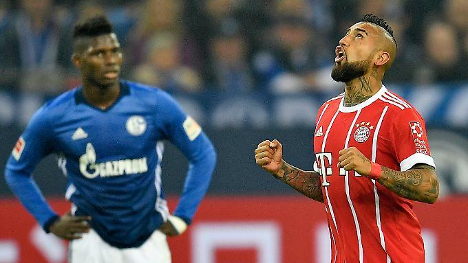 Arturo Vidal kam, sah und traf - und entschied mit dem 3:0 die Partie für den FC Bayern.