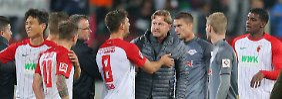 """Augsburg-Pleite mit Geschmäckle: RB-Coach tobt nach """"Genital-Geste"""""""