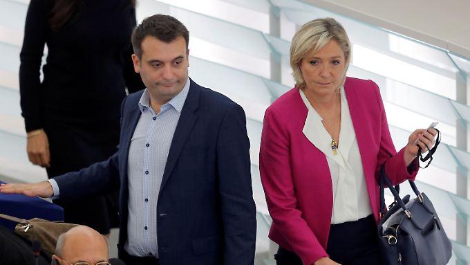 Front-National-Chefin Marine Le Pen hatte Vizechef Florian Philippot wichtige Zuständigkeiten entzogen.