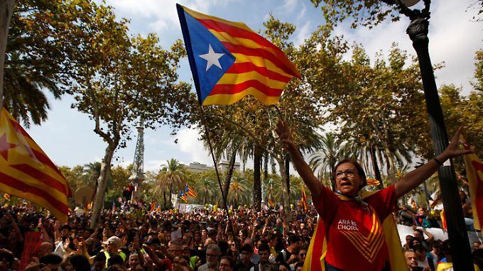 Die 7,5 Millionen Bürger Kataloniens fühlen sich von der EU im Stich gelassen.