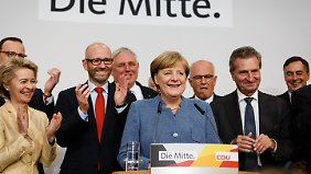 In Berlin ließ Angela Merkel sich feiern.