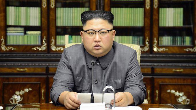Auf Konfrontationskurs: Der nordkoreanische Machthaber Kim Jong Un.