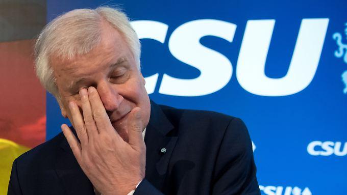 Horst Seehofer am Morgen nach der Wahl.