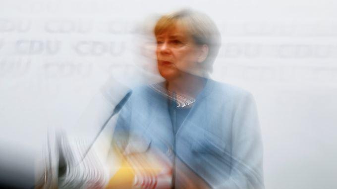 Das Bild täuscht: Merkel ist die Ruhe selbst.