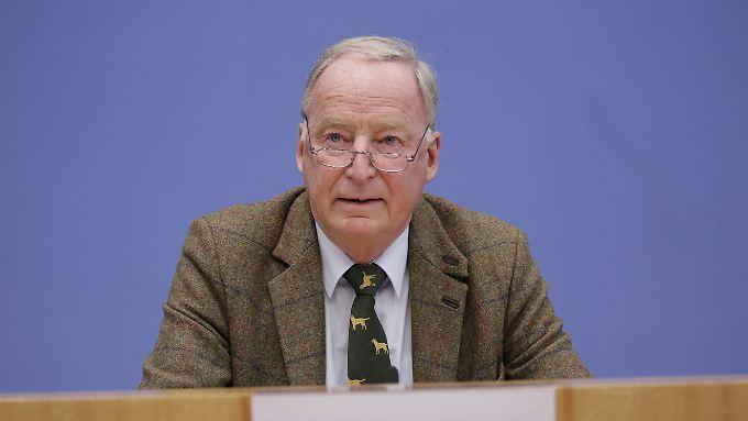 Alexander Gauland war für die Bundestagswahl Spitzenkandidat der AfD.
