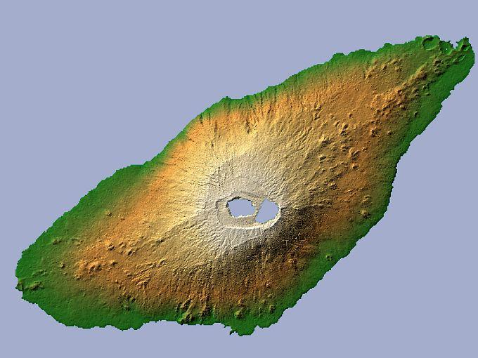 1500 Meter direkt aus dem Meer: Die Insel Ambae besteht im Grunde genommen nur aus dem Vulkan Manaro.