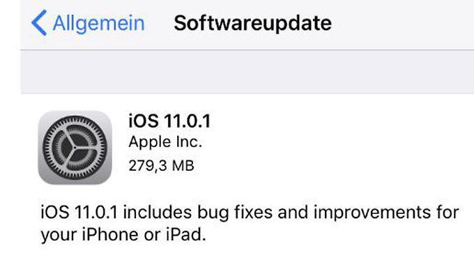 iOS 11.01 beseitigt ein ärgerliches E-Mail-Problem.