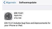 Apple beseitigt E-Mail-Problem: iOS 11 erhält schon das erste Update