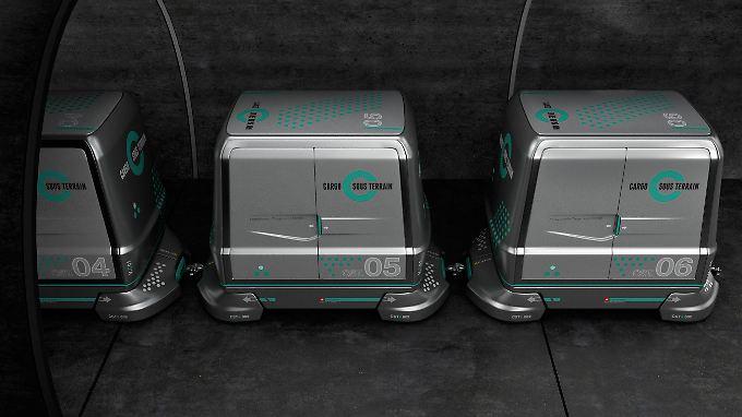 So könnten die Transportboxen von Cargo Sous Terrain künftig aussehen.