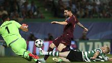 Superstar Lionel Messi blieb wie seine Barcelona-Teamkollegen ohne Tor gegen Sporting Lissabon. Zum Sieg reichte es dennoch, dank eines Eigentors.