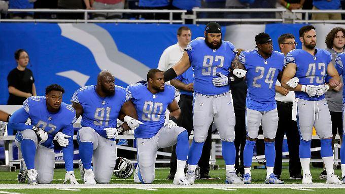 Der Protest in der NFL geht weiter - weswegen US-Präsident Donald Trump weiter tobt.