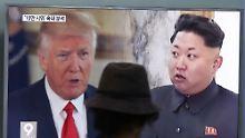 """""""Jetzt ist nicht die Zeit"""": USA wollen keine Gespräche mit Nordkorea"""