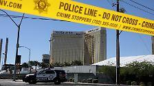"""Der Schütze selbst ist bereits tot, als die Polizei sein Hotelzimmer im """"Mandalay Bay"""" stürmt. Er richtete seine Waffe vermutlich direkt nach der Tat gegen sich selbst."""
