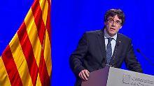 Carles Puigdemont will die Loslösung von Spanien so schnell wie möglich.