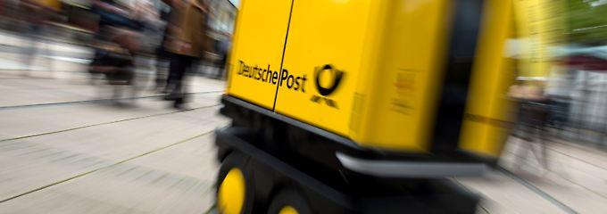 Postbot erstmal öffentlich in Aktion.