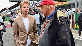 Gerne zeigt sich Rosberg hinter den Kulissen der Formel 1 - wie hier in Silverstone.