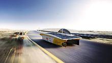 """Tritt in der Challenger-Rennklasse an, die """"aerodynamischen Meisterstücken"""" vorbehalten ist: der """"Sonnenwagen"""", den Aachener Studenten gebaut haben."""