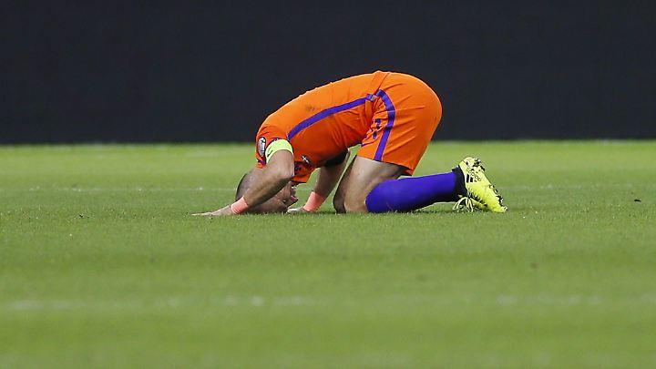 Robben wie die Niederlande am Boden: WM in Russland findet ohne den Vizeweltmeister von 2010 statt.