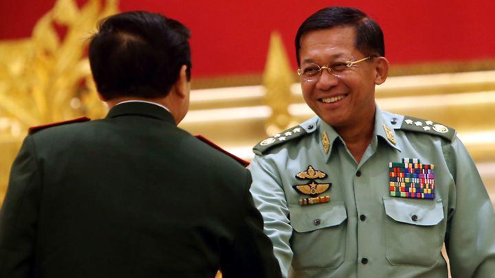Armeechef Min Aung Hlaing.