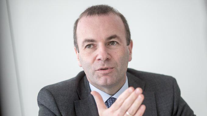 Manfred Weber ist Vorsitzender der EVP-Fraktion (der CDU und CDU angehören) im Europaparlament.