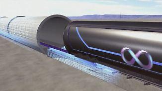 Reisen in der Röhre: Richard Branson steigt bei Hyperloop One ein