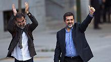 """""""Politische Gefangene"""": Katalanische Separatistenführer inhaftiert"""