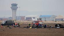 Unglück nahe der Hauptstadt: Kampfjet bei Madrid abgestürzt