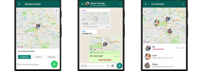 So kommt man sich schnell näher: Whatsapp zeigt Standort jetzt live an