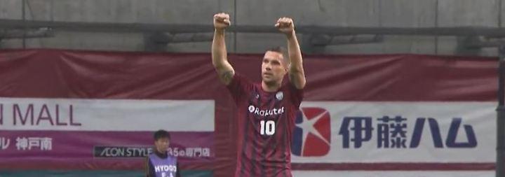 Traumkombination in der J-League: Podolski glänzt mit Rechts-Hammer