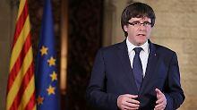 Madrid leitet Entmachtung ein: Puigdemont: Rajoys Vorgehen ist Putsch