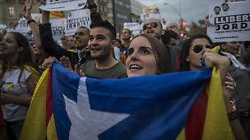 Am Sonntag gab es wieder einmal Proteste in Barcelona.