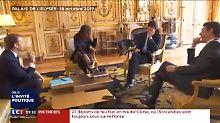 Pipi-Malheur im Élysée-Palast: Nemo blamiert sein Herrchen Macron